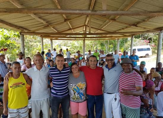 O Presidente do PDT de Ilhéus esteve em Serra Grande para reunião no Ecovila