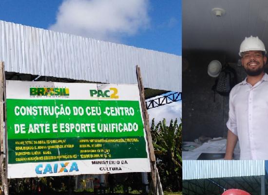 Jamil Ocké visita obra do Centro de Arte e Esporte Unificado no Nossa Senhora da Vitória