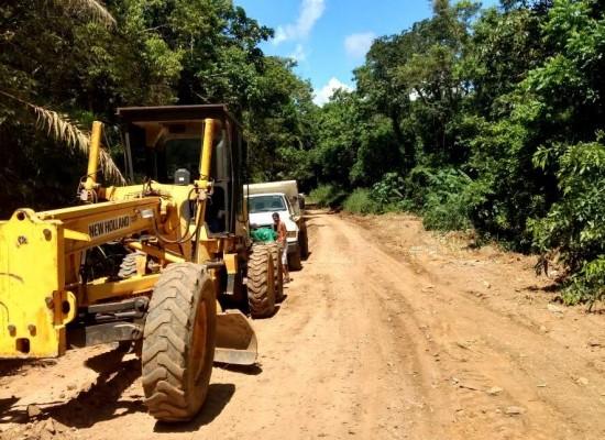 Estrada de Carobeira é recuperada pela Prefeitura