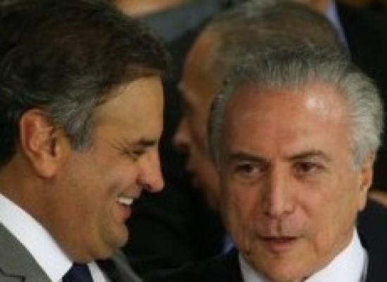Imagens apontam entrega de propina aos indicados de Temer e de Aécio, diz jornal