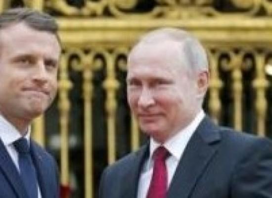 Macron recebe Putin em primeira visita de um chefe de Estado após sua posse