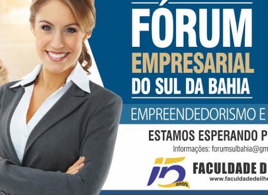 Fórum Empresarial do Sul da Bahia discutirá Empreendedorismo e Trabalho, em Ilhéus