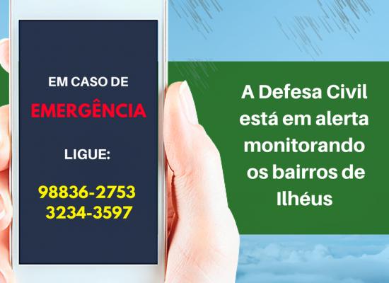 Defesa Civil tem novo número de celular para atendimento à população
