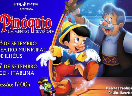 Espetáculo infantil 'Pinóquio' entra em cartaz no Teatro Municipal, dia 16