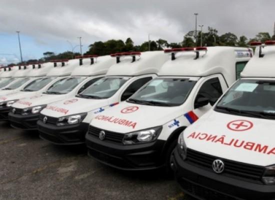 Saúde no interior da Bahia é reforçada com a entrega de 22 ambulâncias