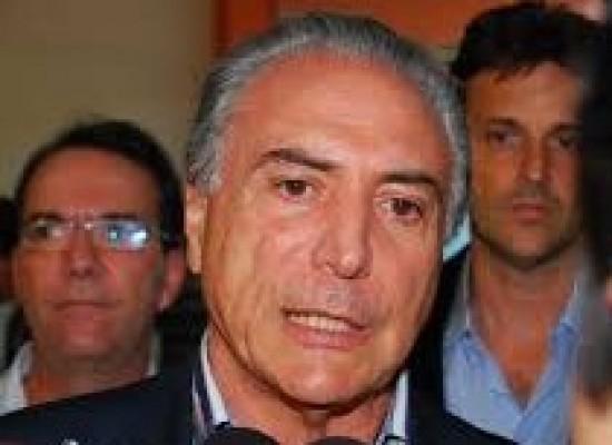 TEMER DIZ QUE VERBA PARA AÇÕES NO RIO PODE CHEGAR ATÉ R$ 800 MILHÕES