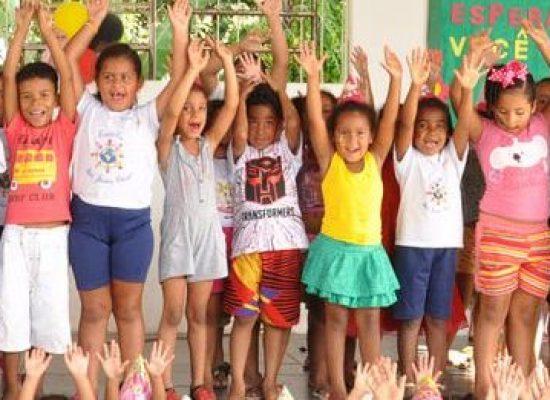 Alegria traduz a semana da criança da Escola São João Bosco