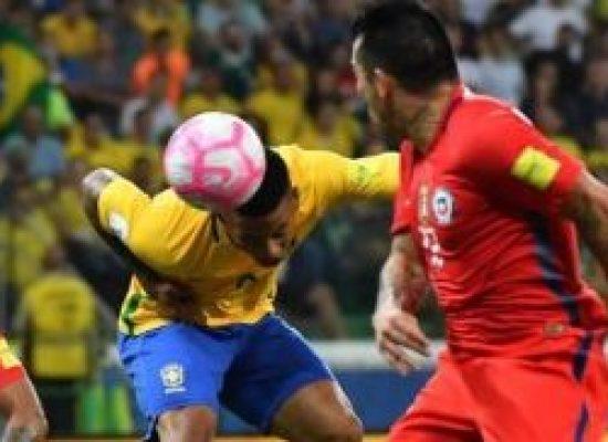 Brasil faz 3 a 0, tira Chile da Copa e Peru vai para a repescagem