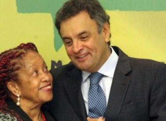Aécio segurou Luislinda no cargo e ela vai disputar uma vaga na Câmara dos Deputados