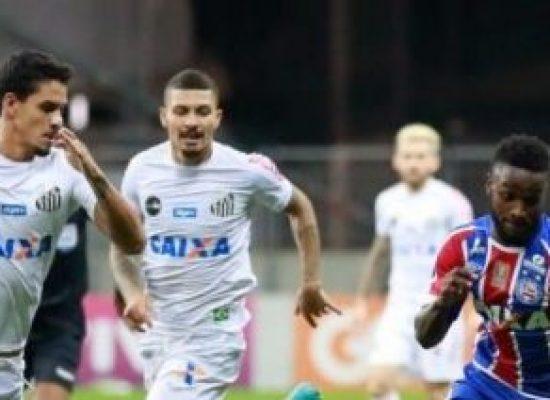 Bahia vence Santos por 3 a 1 e se aproxima do G7 e da Libertadores