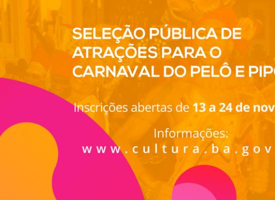 SecultBA abre inscrições para contratações artísticas no Carnaval 2018