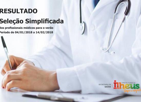 Prefeitura de Ilhéus divulga resultado da seleção simplificada dos profissionais médicos