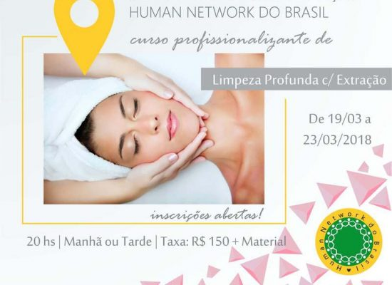 Próxima semana: curso de limpeza de pele profunda com extração em Ilhéus