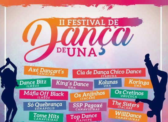 Festival de Dança de Una vai mobilizar dançarinos da região sul do estado