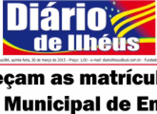 DIÁRIO DE ILHÉUS, 19 anos de Boas Notícias! UMA HOMENAGEM DO PRÉ-CANDIDATO A DEPUTADO FEDERAL, DR. COSME ARAÚJO