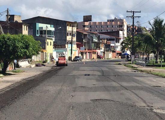 Iniciada obra de recapeamento  asfáltico em ruas e avenidas de Ilhéus