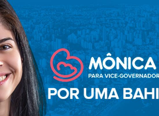 Candidata a vice de Zé Ronaldo, Mônica Bahia, no eixo Ilhéus/Itabuna nesta 5ª e 6ª feira