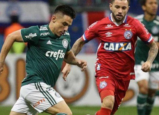 Com utilização do VAR, Bahia e Palmeiras empatam pela Copa do Brasil