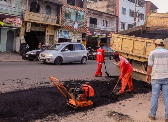 Prefeitura dá continuidade à operação de manutenção das ruas em Ilhéus