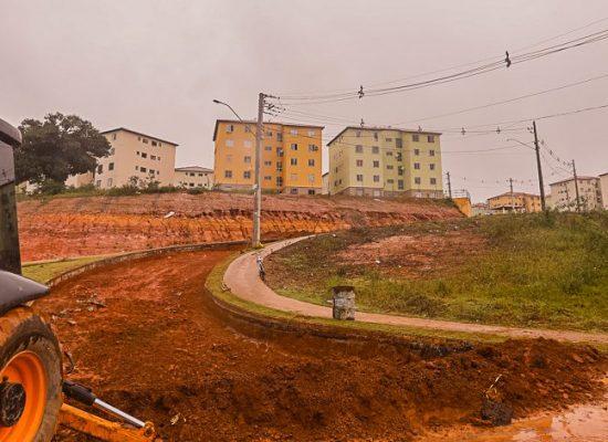 Retomadas obras de recuperação da Ladeira do Condomínio Sol e Mar