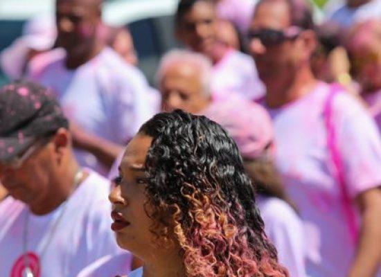 """""""Apitaço"""" no centro de Ilhéus marca ações do Outubro Rosa"""
