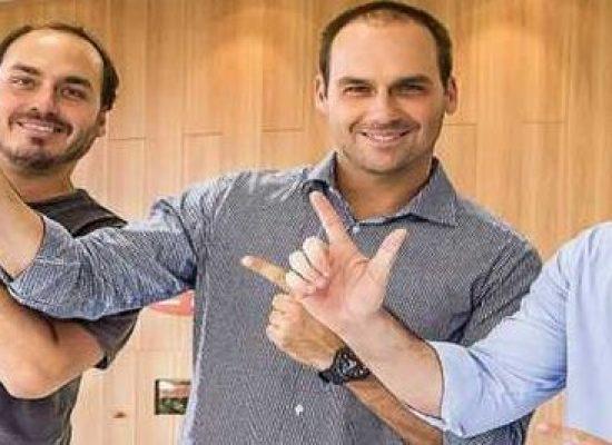 O triunvirato de Bolsonaro: Flávio, Carlos e Eduardo