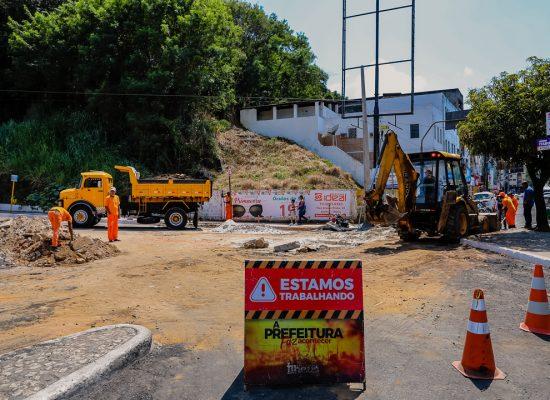 Prefeitura de Ilhéus requalifica rede de drenagem na Praça Cairu