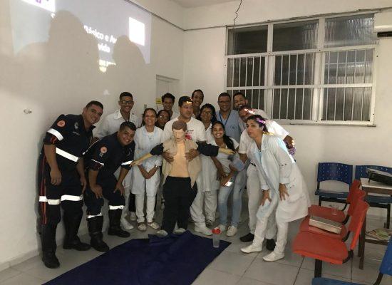 Samu realiza treinamento para funcionários do Banco de Sangue do Hospital São José