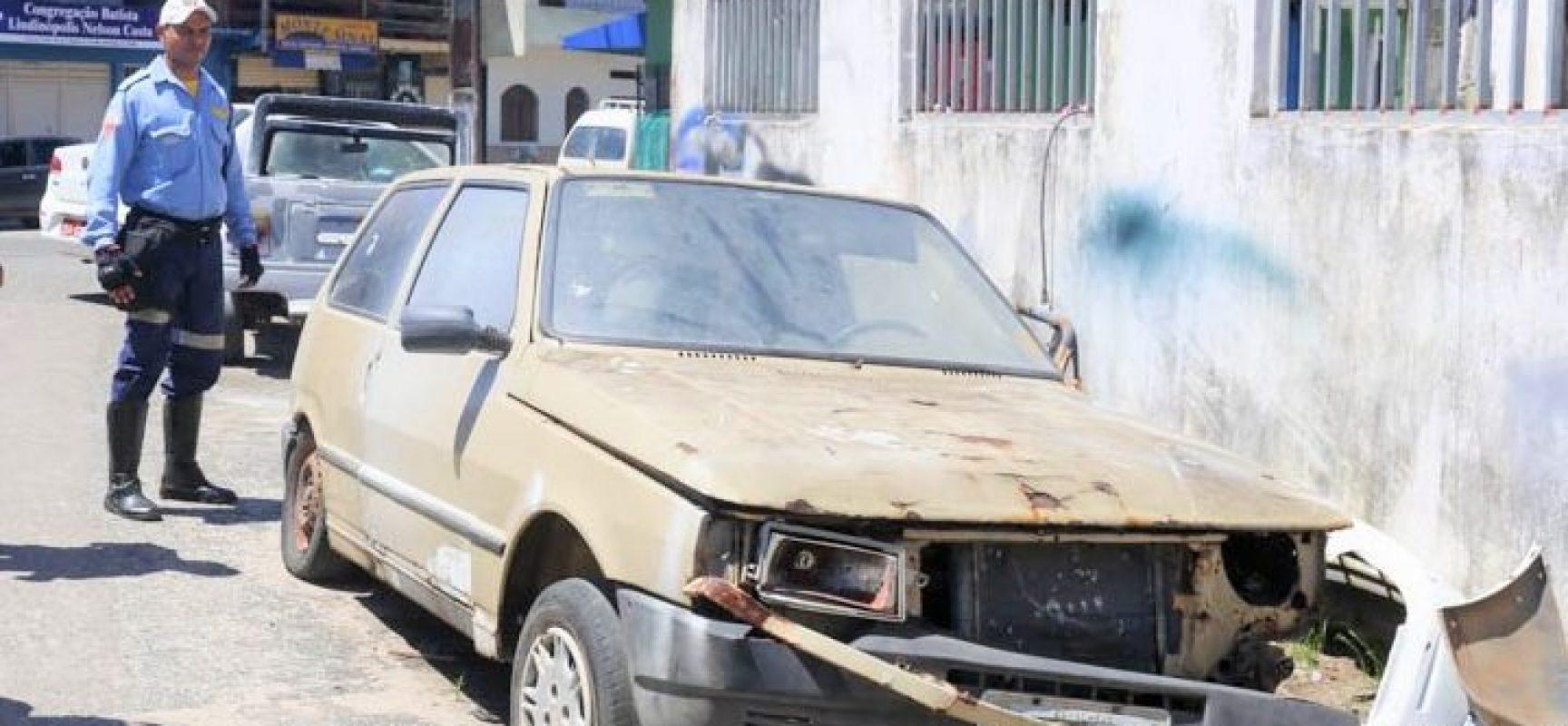 Prefeitura vai remover carros abandonados nas ruas de Ilhéus
