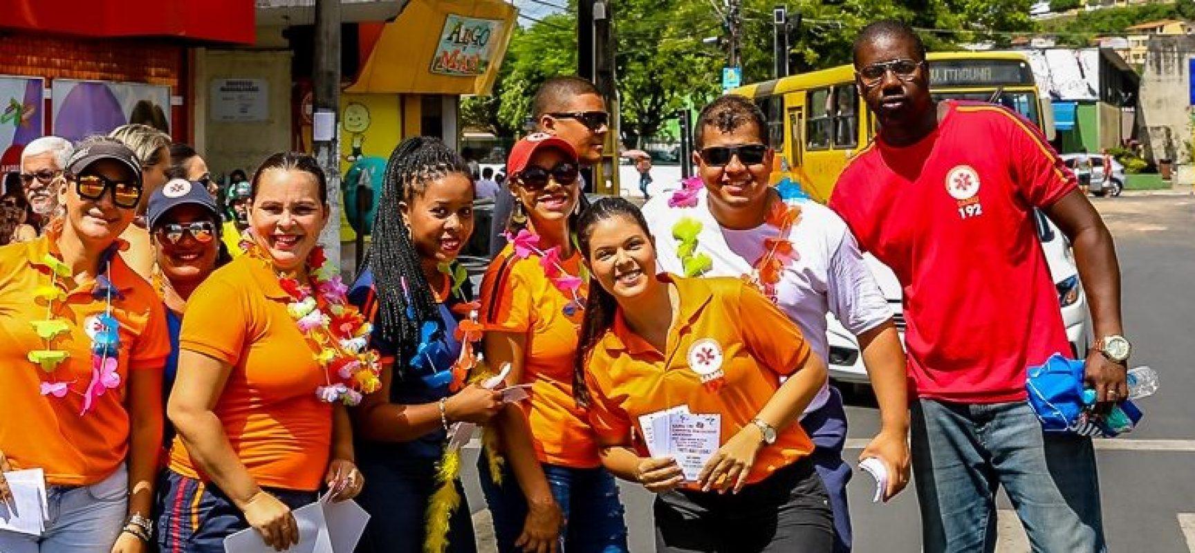 Samu de Ilhéus promove campanha de Carnaval para aumentar doações de sangue
