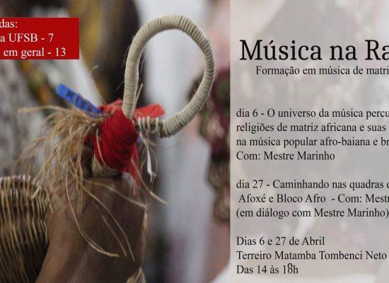 PROJETO MÚSICA NA RAÇA PROMOVE OFICINAS DE MÚSICA