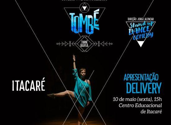 """Espetáculo de dança """"Tombé"""" será apresentado gratuitamente em Itacaré"""