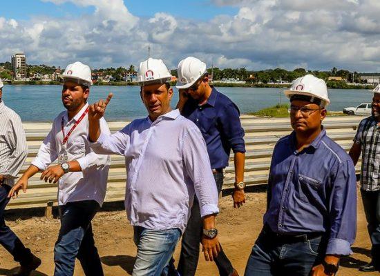 Prefeito acompanha avanço das obras da nova ponte de Ilhéus