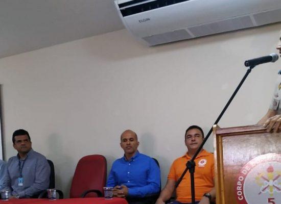 Vereador Escuta participa da aula inaugural no 5º GBM, sobre A-Hospitalar