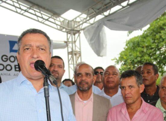 Vereadores participam, ao lado do governador Rui Costa, de inaugurações e assinaturas de ordens de serviços