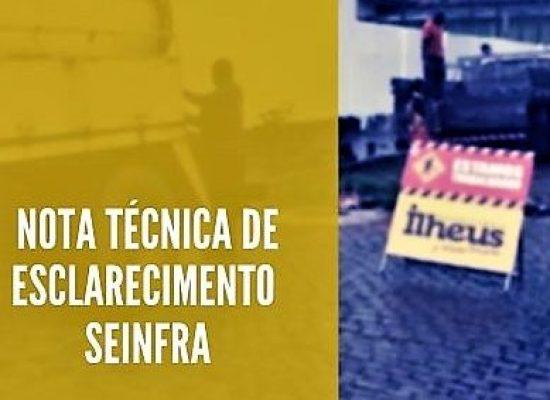 NOTA TÉCNICA DE ESCLARECIMENTO – SEINFRA