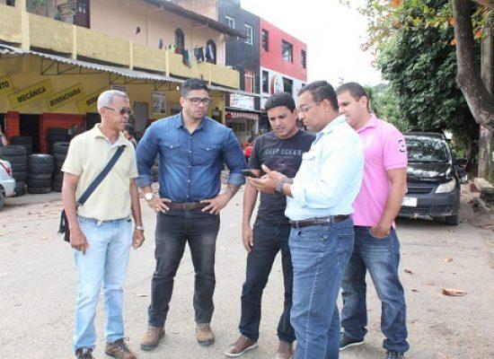 Fabrício Nascimento solicita rotatória entre ruas do bairro Malhado.