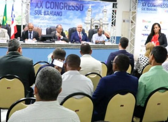 Câmara de Ilhéus sedia XX Congresso Sul Bahiano dos Poderes Legislativo e Executivo