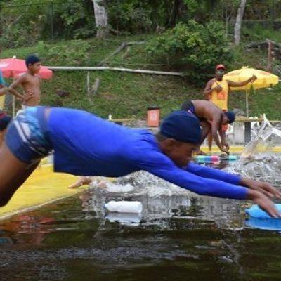 CRAS realiza campeonato de natação para crianças de Olivença