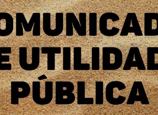 PMI – Comunicado de utilidade pública