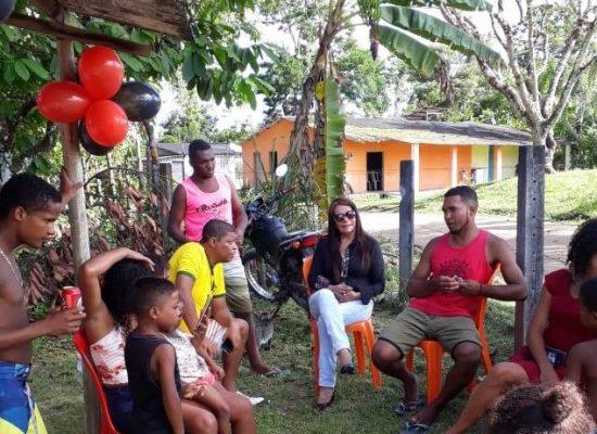 Lu Cerqueira continua visitando comunidades e ouvindo reclames da sociedade