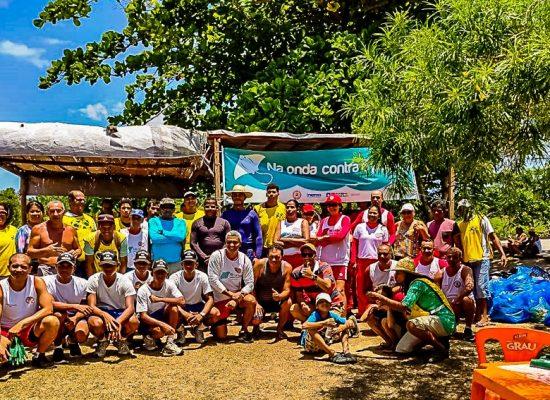 NINO VALVERDE: Campanha 'Na Onda Contra o Plástico'é realizada em Sambaituba