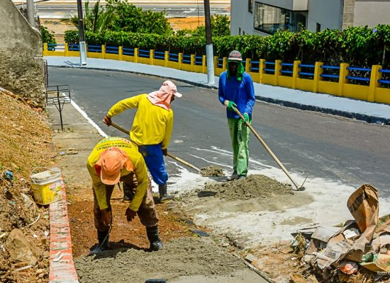 Obras de melhorias são realizadas no Outeiro em Ilhéus