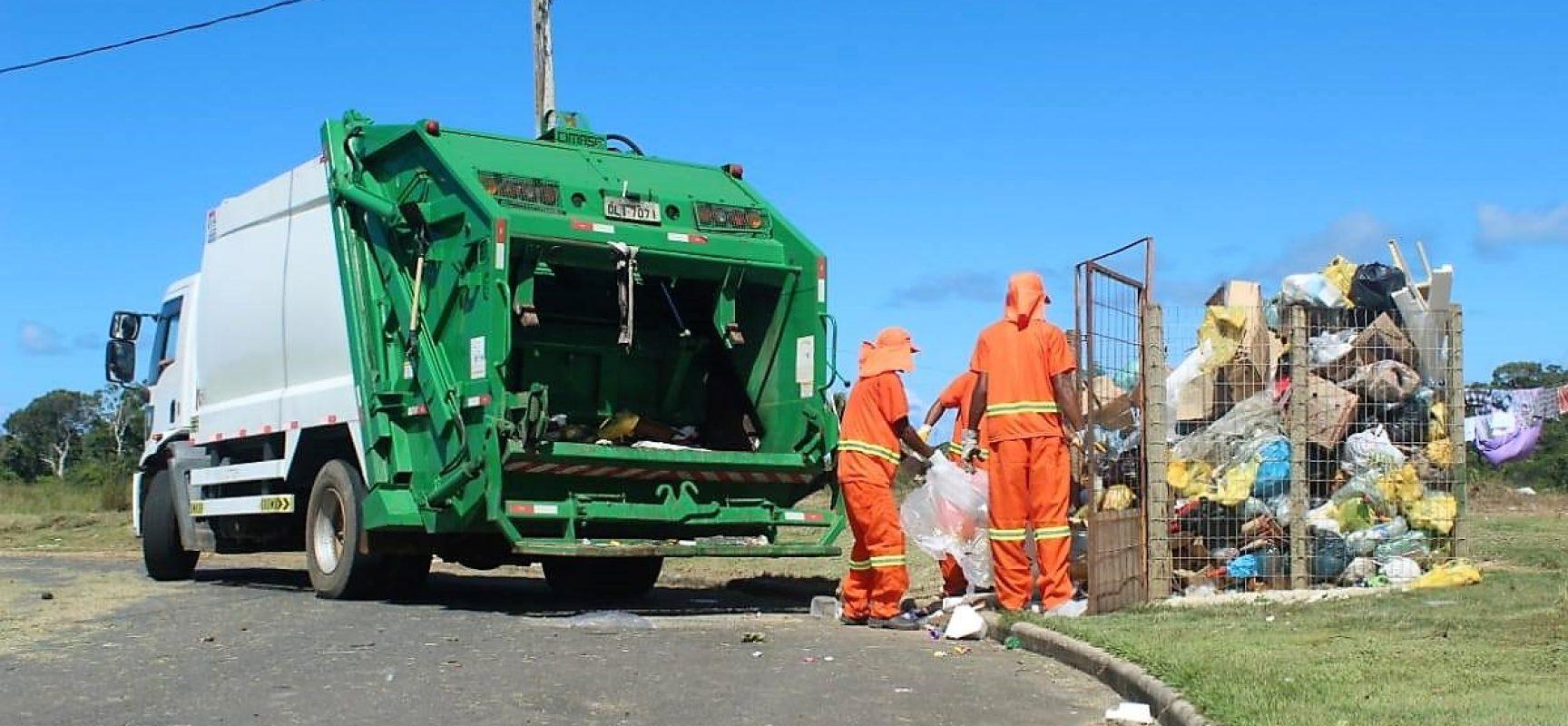 Coleta de lixo em Ilhéus é mantida e setor orienta população