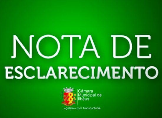 Em nota, César Porto explica atuação da Câmara de Ilhéus na cassação de mandatos e posse de suplentes