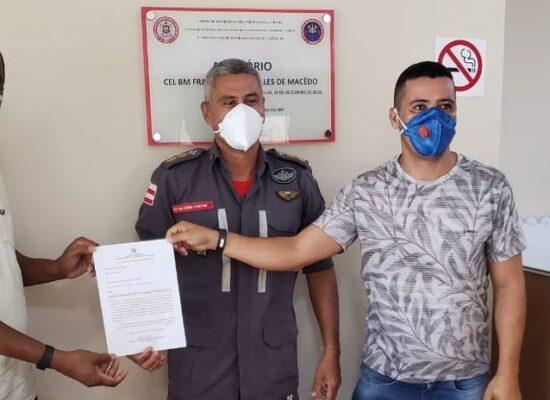 ESCUTA ILHÉUS: Vereador articula e consegue EPI's junto ao 5º Grupamento de Bombeiros Militar/Bahia