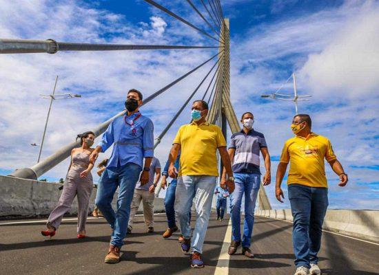 Prefeito de Ilhéus visita nova ponte antes da inauguração