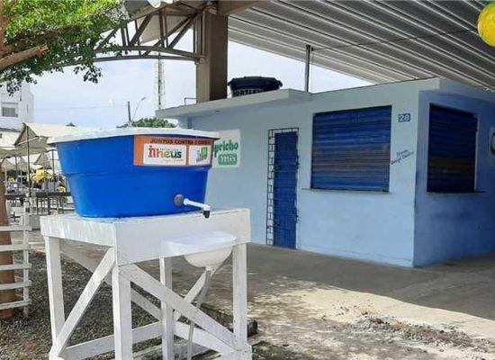 Prefeitura de Ilhéus instala pias em mais seis pontos para população se prevenir da Covid-19