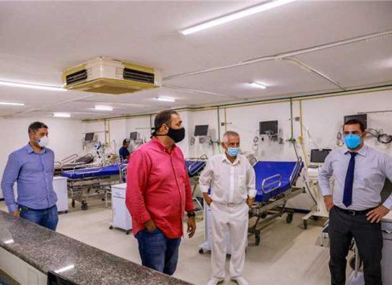 Prefeito de Ilhéus vistoria o Hospital Vida Memorial para ampliação de 10 novos leitos Covid-19