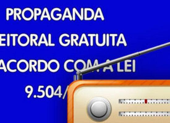 ELEIÇÕES: Propaganda eleitoral gratuita – Rádio e TV